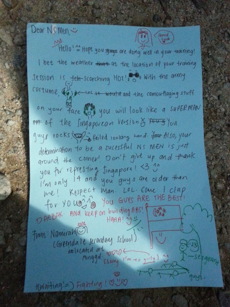 A hilariously inspirational letter from a kid to me while serving my country