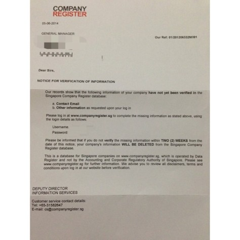 companyregister.sg is a scam!